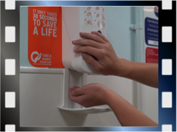 Hand hygiene in hospital