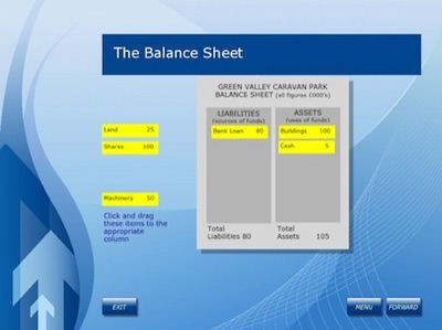balance sheet interactive exercise